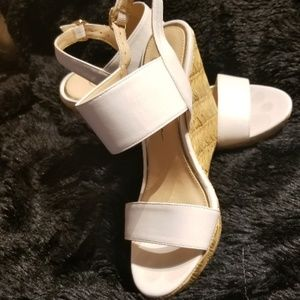 Jessica Simpson size 7 wight wedges sandals